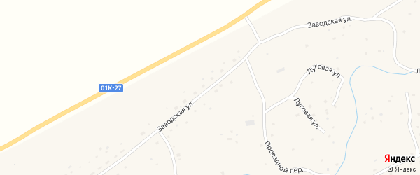 Заводская улица на карте села Михайловки с номерами домов
