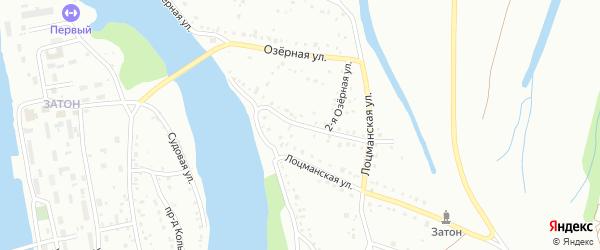 Озерная 2-я улица на карте Барнаула с номерами домов