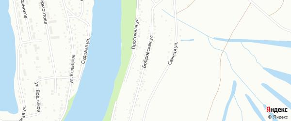 Бобровская улица на карте Барнаула с номерами домов