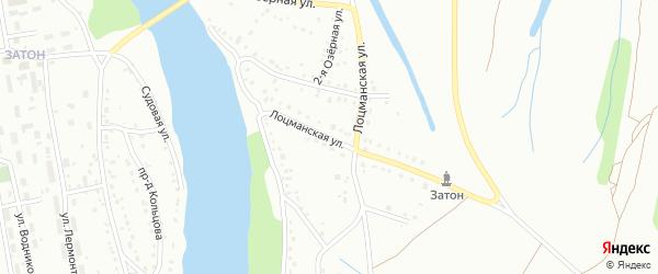Лоцманская улица на карте Барнаула с номерами домов