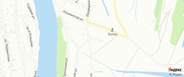 Осиновая улица на карте Барнаула с номерами домов