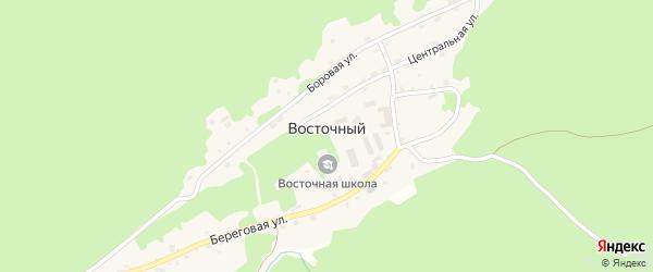 Береговая улица на карте Восточного поселка с номерами домов