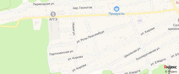 Улица Розы Люксембург на карте села Боровихи с номерами домов