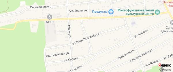 Молодежная улица на карте села Боровихи с номерами домов