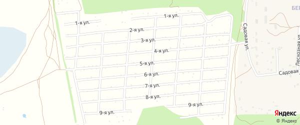 5-я улица на карте садового некоммерческого товарищества Сосняка с номерами домов