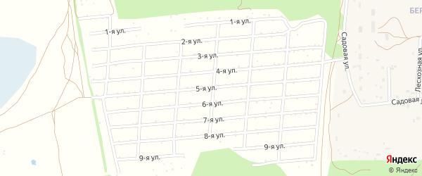 Пятая улица на карте садового некоммерческого товарищества Геолога-2 с номерами домов