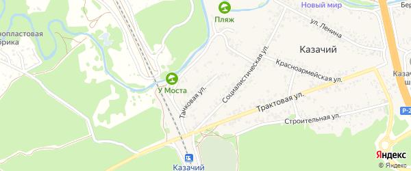 Танковая улица на карте Казачьего поселка с номерами домов