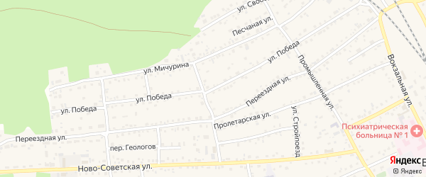 Улица Победа на карте села Боровихи с номерами домов