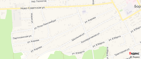 Улица Кирова на карте села Боровихи с номерами домов