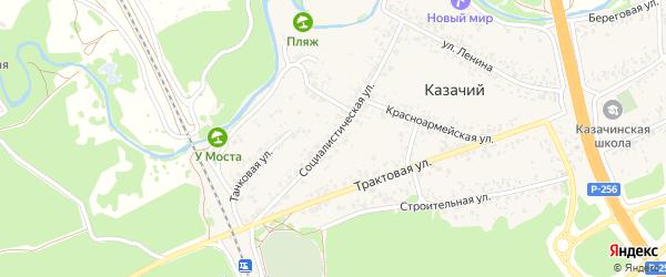 Социалистическая улица на карте Казачьего поселка с номерами домов