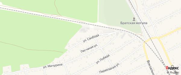 Улица Свобода на карте села Боровихи с номерами домов