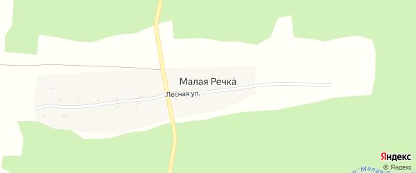 Лесная улица на карте поселка Малой Речки с номерами домов