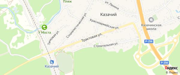 Трактовая улица на карте Казачьего поселка с номерами домов