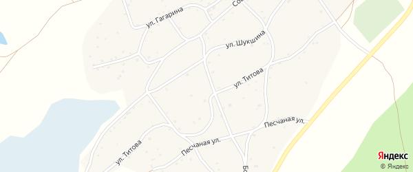 Гвардейский переулок на карте села Рассказихи с номерами домов