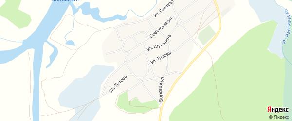 Карта села Рассказихи в Алтайском крае с улицами и номерами домов