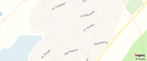 Улица Гуляева-Сусанина на карте села Рассказихи с номерами домов