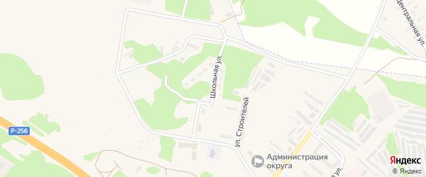 Школьная улица на карте ЗАТА Сибирского поселка с номерами домов