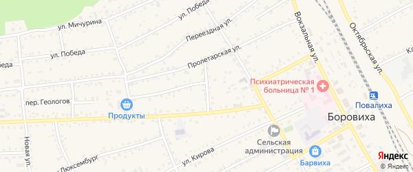 Улица Стройпоезд на карте села Боровихи с номерами домов