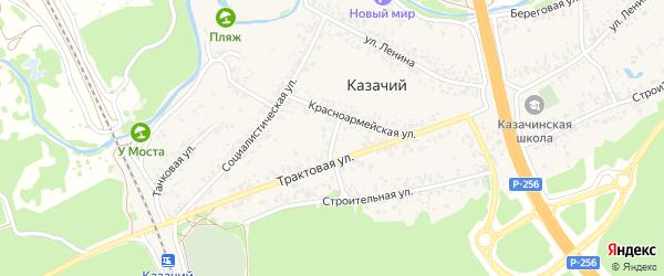 Октябрьский переулок на карте Казачьего поселка с номерами домов