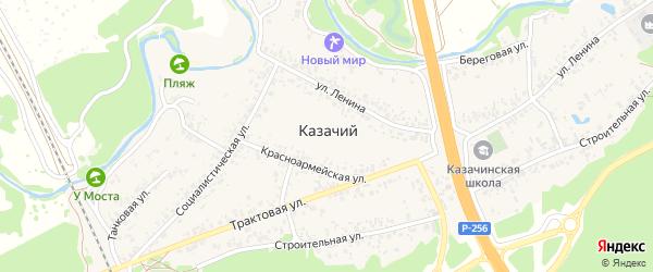 Заречная улица на карте Казачьего поселка с номерами домов