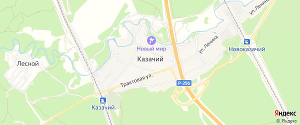 Карта Казачьего поселка в Алтайском крае с улицами и номерами домов