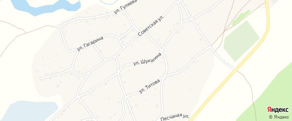 Улица Шукшина на карте села Рассказихи с номерами домов