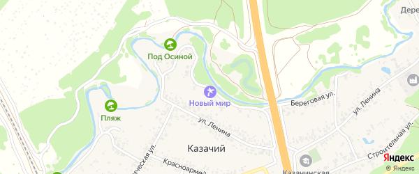 Береговая улица на карте Казачьего поселка с номерами домов