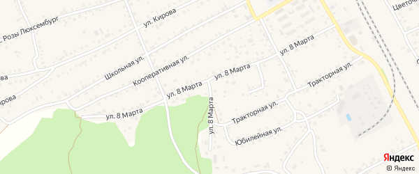 Улица 8 Марта на карте села Боровихи с номерами домов