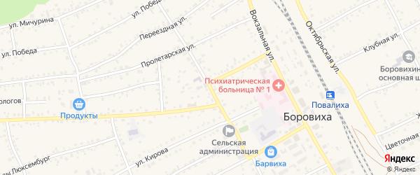 Промышленная улица на карте села Боровихи с номерами домов