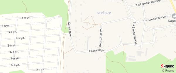 Садовая улица на карте села Боровихи с номерами домов