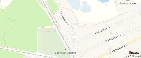 5-я Боровая улица на карте села Боровихи с номерами домов