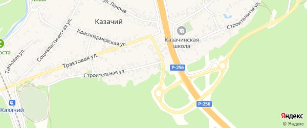 Строительная улица на карте Казачьего поселка с номерами домов