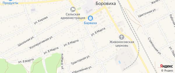 8-я улица на карте садового некоммерческого товарищества Медика с номерами домов