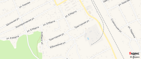 Тракторная улица на карте села Боровихи с номерами домов