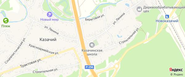 Улица Ленина на карте Казачьего поселка с номерами домов