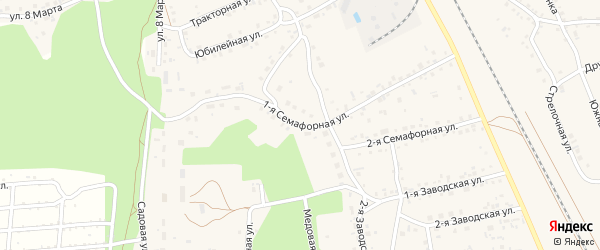 1-я Семафорная улица на карте села Боровихи с номерами домов