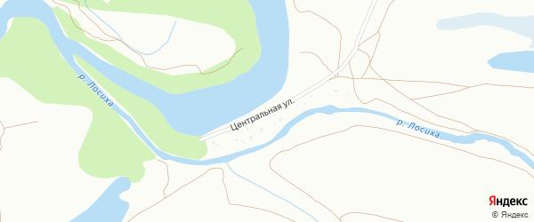 Центральная улица на карте территории сдт Восхода-2 с номерами домов