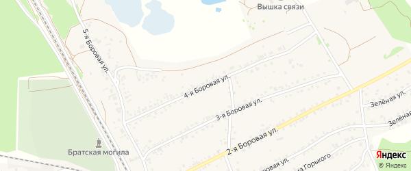 4-я Боровая улица на карте села Боровихи с номерами домов