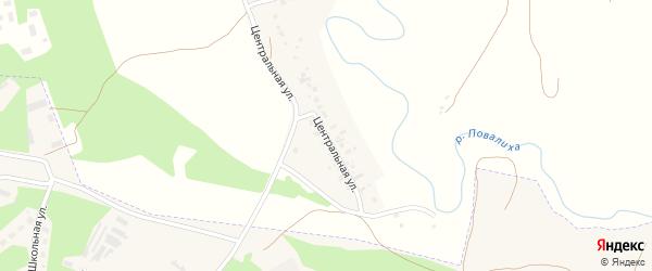 Центральная улица на карте Октябрьского села с номерами домов