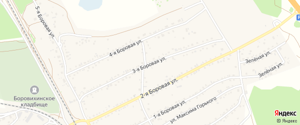 3-я улица на карте садового некоммерческого товарищества Вагоностроителя-1 с номерами домов