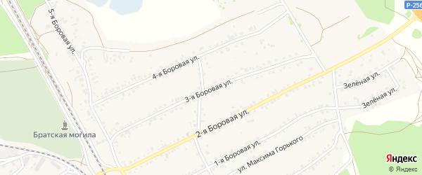 3-я Боровая улица на карте села Боровихи с номерами домов