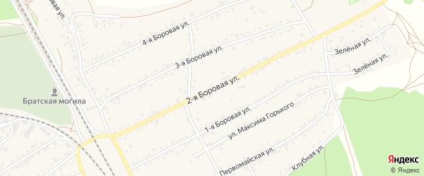 2-я Боровая улица на карте села Боровихи с номерами домов