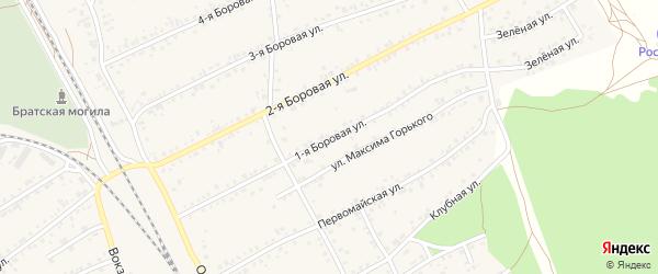 1-я Боровая улица на карте села Боровихи с номерами домов