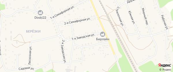 1-я Заводская улица на карте села Боровихи с номерами домов