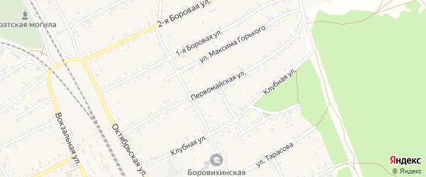 Первомайская улица на карте села Боровихи с номерами домов