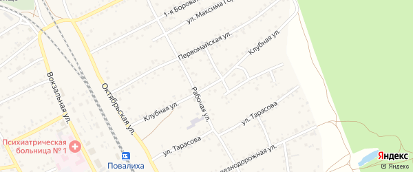 Клубная улица на карте села Боровихи с номерами домов