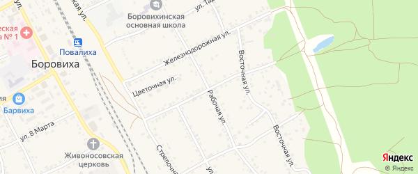 Улица Красный Лесоруб на карте села Боровихи с номерами домов