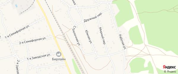 Южная улица на карте села Боровихи с номерами домов