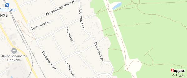 Восточная улица на карте села Боровихи с номерами домов
