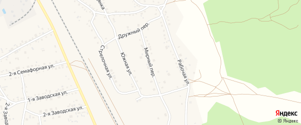 Мирный переулок на карте села Боровихи с номерами домов